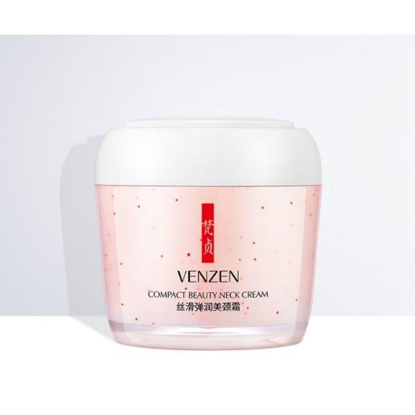 Увлажняющий крем для шеи и зоны декольте VENZEN BEAUTY GLAMOR COMPACT BEAUTY NECK CREAM с гиалуроновой кислотой 160 гр