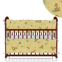 Защита в кроватку Алекс Ослики-жирафы желтая - 223543