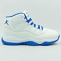 Кроссовки баскетбольные детские Jordan размер 31-35 WHITE/BLUE белый-синий PZ-1801-2