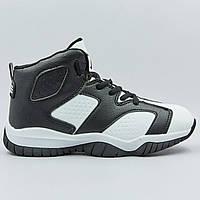 Кроссовки баскетбольные детские Jordan размер 31-35 WHITE/BLACK черный-белый PZ-1802-3