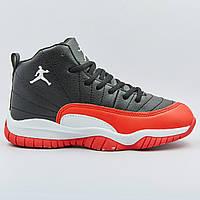 Кроссовки баскетбольные детские Jordan размер 31-35 BLACK/RED черный-красный PZ-1803-3