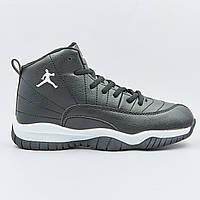 Кроссовки баскетбольные детские Jordan размер 31-35 BLACK черный PZ-1803-2