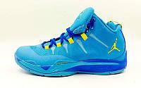 Кроссовки баскетбольные Jordan размер 41-46 синий-желтый PZ-OB-6412-1