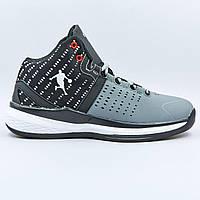 Кроссовки баскетбольные Jordan размер 41-45 серый-черный PZ-0707-3