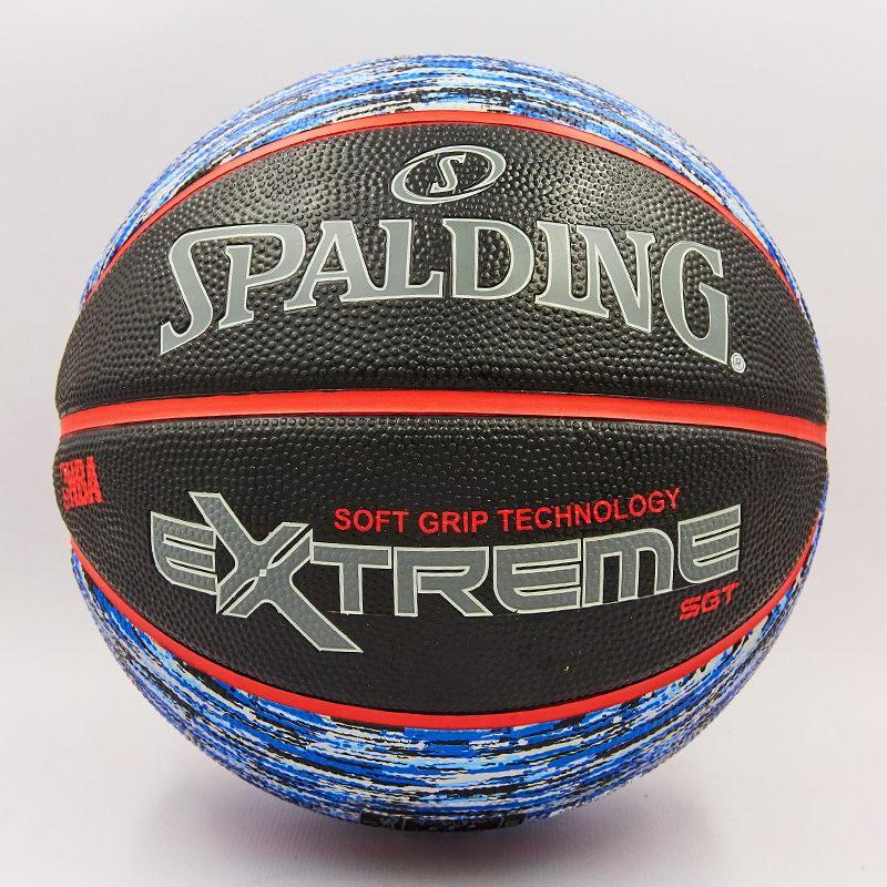 Мяч баскетбольный резиновый №7 SPALDING NBA Extreme SGT (резина, бутил, черный-синий)