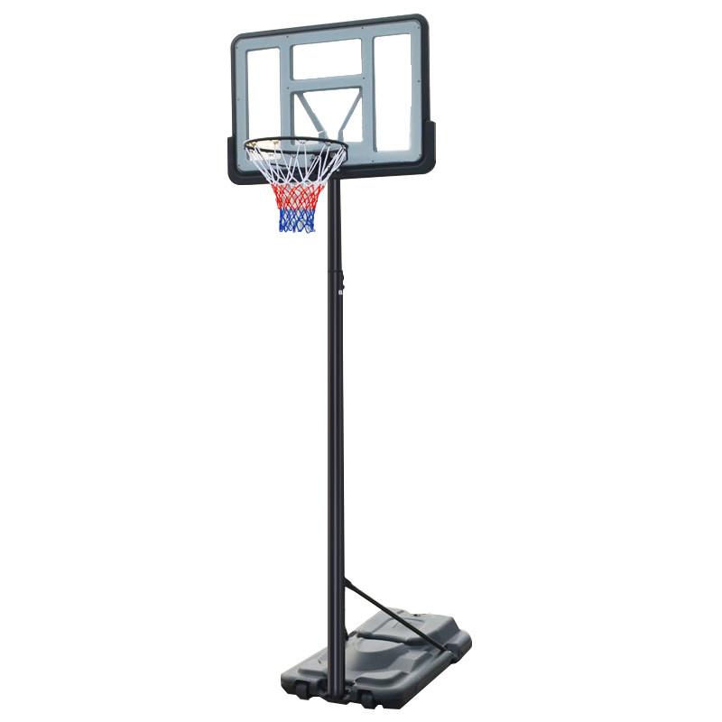 Стойка баскетбольная со щитом (мобильная) ADULT (щит-PC 110х75см, кольцо-сталь (16мм) d-45см, регул.высота 230-305см) PZ-S021A