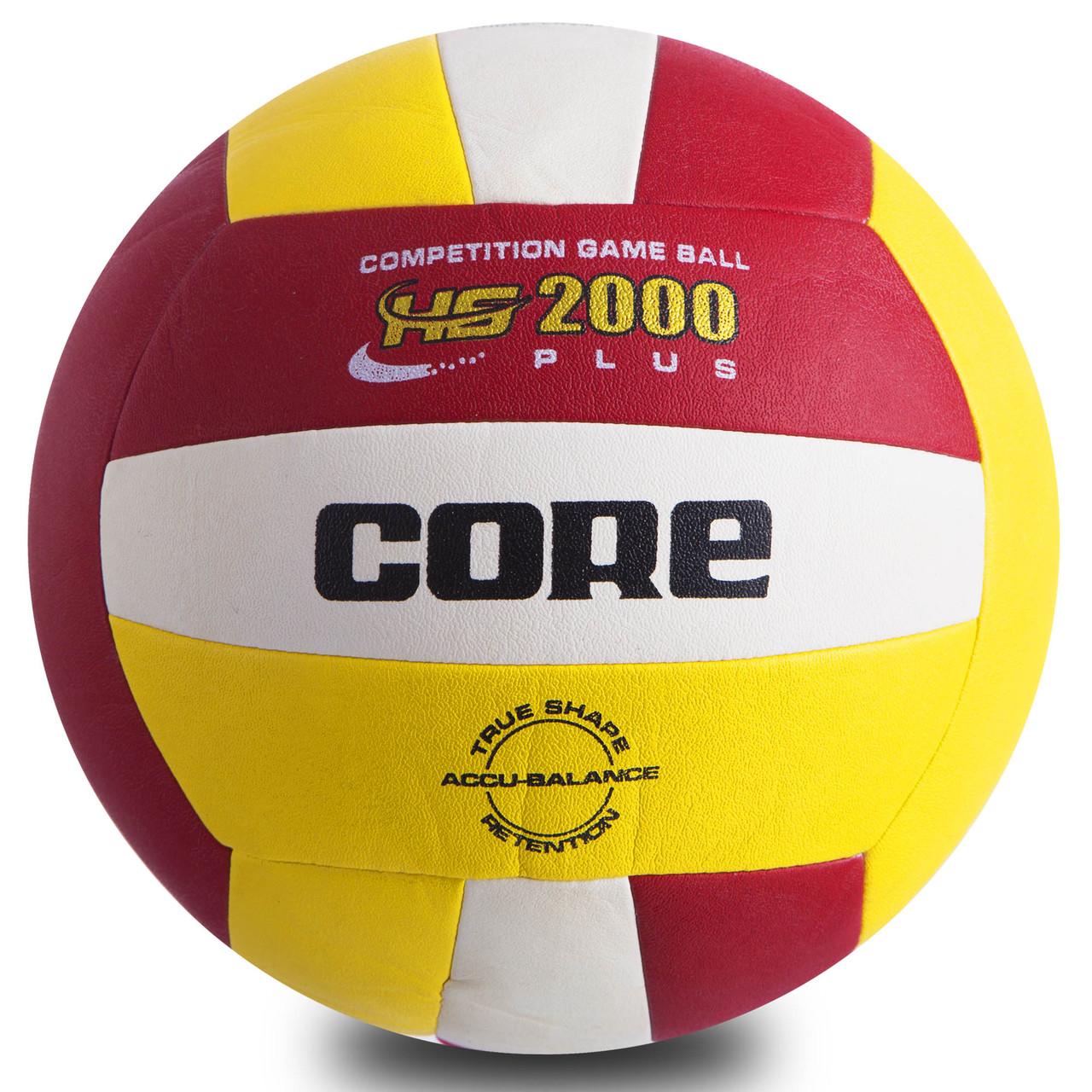 Мяч волейбольный PU CORE HYBRID (PU, №5, 3 слоя, сшит машинным способом)