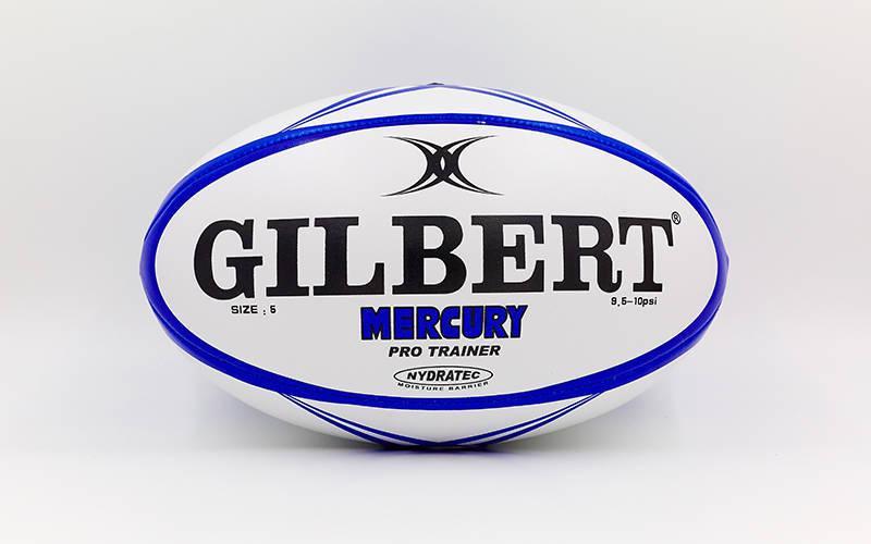 Мяч для регби GILBERT (PU, р-р 12in, №5, белый-синий)