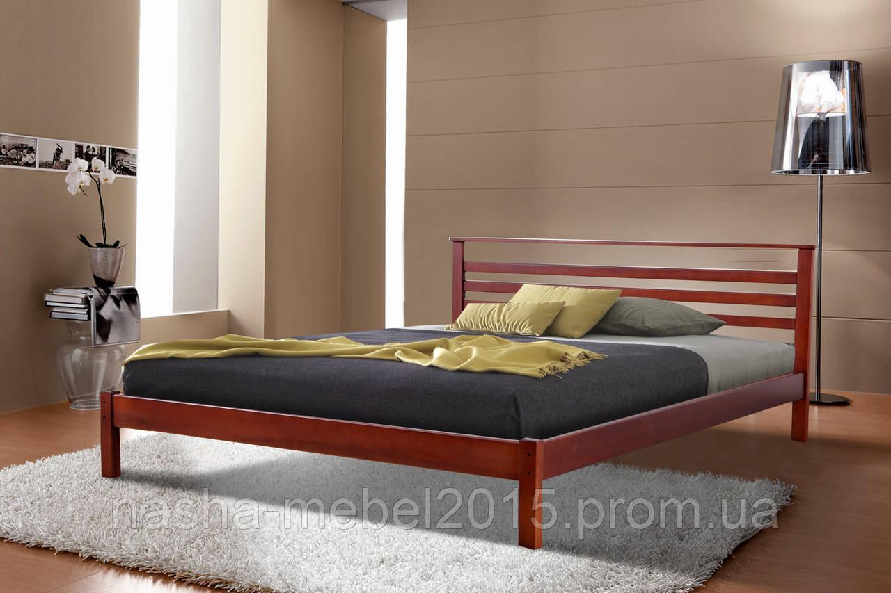 Кровать деревянная двуспальная Диана 1,6м