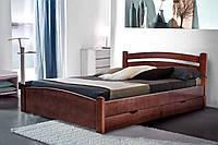 Кровать деревянная двуспальная Альбина 1,6м орех