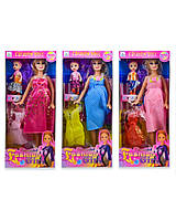 """Кукла""""Беременная"""" 2009D, 3 вида, платье, мал куколка, в кор. 32*14*5см"""
