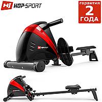 Гребной тренажер HS-030R Boost Red. Маховик 9,5 кг. До: 120кг. 10 регулировок нагрузки