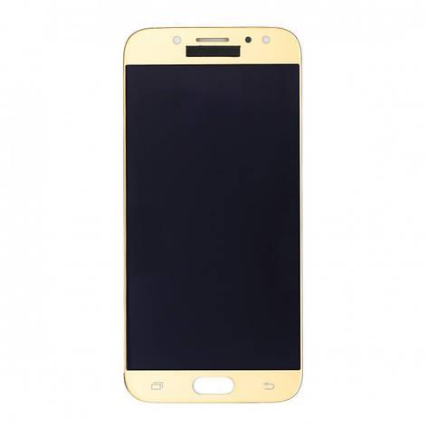 Дисплей (LCD) Samsung J500H Galaxy J5/  J500F/  J500M TFT (подсветка оригинал) с сенсором золотой, фото 2