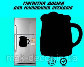 """Магнітна дошка на холодильник """"Кухоль пива"""" XL (30х32см)"""
