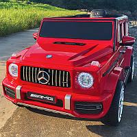 Детский электромобиль Джип M 4214 EBLR-3, Mercedes-Benz G63, музыка, свет, колеса EVA, сиденье кожа, красный