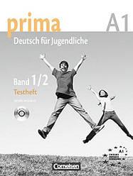 Prima Deutsch fur Jugendliche 1-2 Testheft mit Audio-CD