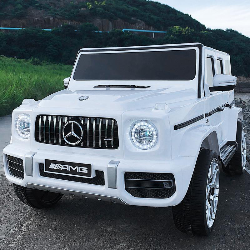 Детский электромобиль Джип M 4214 EBLR-1, Mercedes-Benz G63, музыка, свет, колеса EVA, сиденье кожа, белый