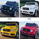 Детский электромобиль Джип M 4214 EBLR-1, Mercedes-Benz G63, музыка, свет, колеса EVA, сиденье кожа, белый, фото 5