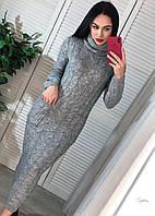 Вязаное платье миди с горлом, фото 1