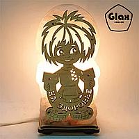 Соляная лампа светильник Домовой