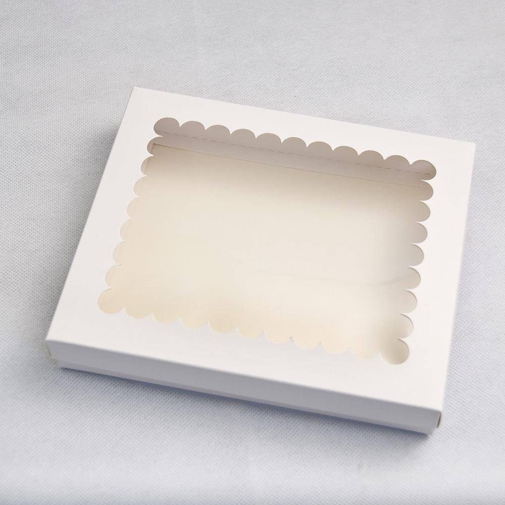 Коробка для пряников с окном белая 20*17*3 см, 5 шт