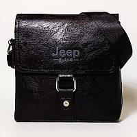 Мужская сумка через плечо Jeep. Черная. 21см х 19см / Кожа PU. 560 black