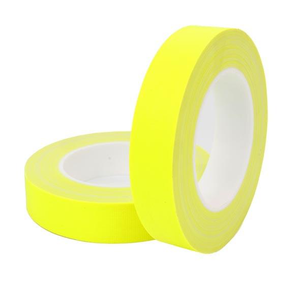 HPX FLUO TAPE - армированная флюорисцентная лента для маркировки - желтая  - 12мм x 25м