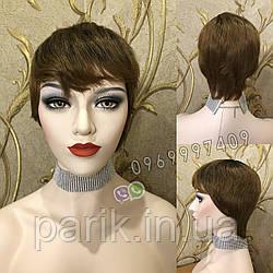 Парик женский омбре, отросшие корни, короткая стрижка