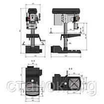 Optimum Drill DX 17 V cверлильный станок по металлу резьбонарезной с вердлильний верстат оптимум дрил дикс 17в, фото 3