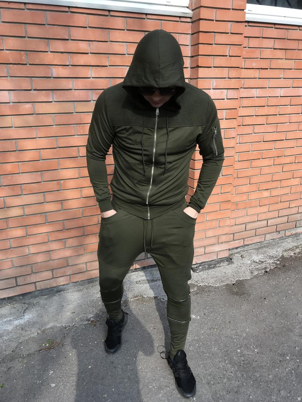 Оливковый спортивный костюм Open {S}