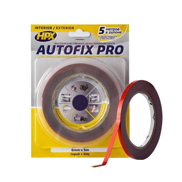 AUTOFIX PRO - 6мм x 5м - автомобильная двусторонняя клейкая лента (скотч)