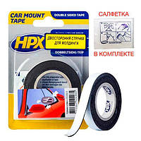 CAR MOUNT - автомобильная двусторонняя клейкая лента (скотч) для молдингов - 12мм x 2м
