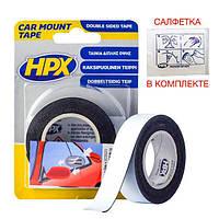 CAR MOUNT - автомобильная двусторонняя клейкая лента (скотч) для молдингов - 19мм x 2м