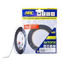 AUTOFIX - автомобильная двусторонняя клейкая лента (скотч) - эконом - 12мм x 5м