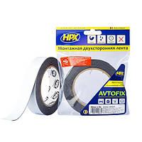 AUTOFIX - автомобильная двусторонняя клейкая лента (скотч) - эконом - 25мм x 5м