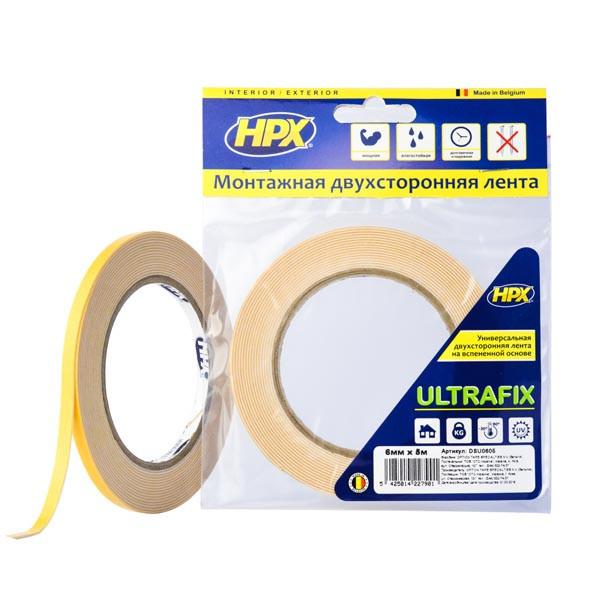 ULTRAFIX - 6мм x 5м - моментальная фиксация, двусторонняя клейкая лента (скотч)