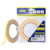 ULTRAFIX - двусторонняя клейкая лента (скотч) для моментальной фиксации - 6мм x 5м