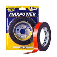 MAXPOWER OUTDOOR - черная двусторонняя лента (скотч) для экстремальных нагрузок - для наружных работ - 19мм x 5м