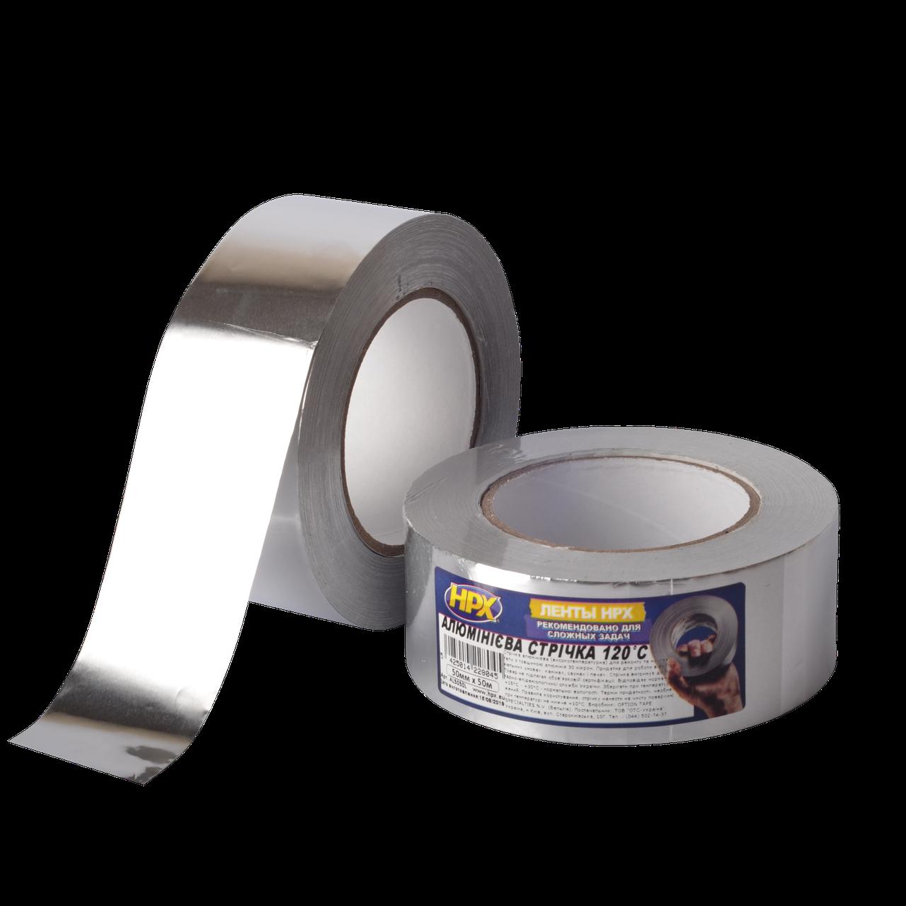 Высокотемпературная алюминиевая лента (скотч) HPX - 120°С 30 микрон - 50мм x 50м