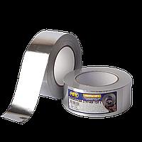 HPX AL 120°С 30мкм - 50мм x 50м - высокотемпературная алюминиевая клейкая лента (алюминиевый скотч)