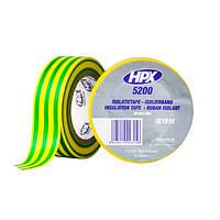 Профессиональная изоляционная лента HPX 5200 - 19мм   x 10м - желто-зеленая
