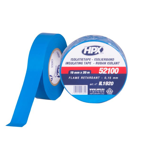 Автомобильная изоляционная лента HPX 52100 - VDE-стандарт - 19мм x 20м - синяя