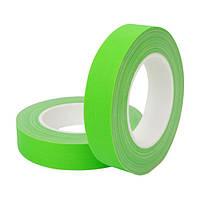 HPX FLUO TAPE - матовый высококонтрастный флюорисцентный тейп для театра, кино и телестудий - зеленый - 25мм