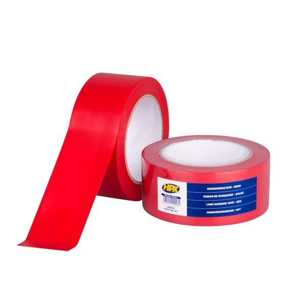 Lane Marking Tape HPX - червона, 50мм х 33м - клейка стрічка (скотч) для маркування підлоги