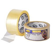 Упаковочная клейкая лента (скотч) 38 микрон - 48мм x 66м - прозрачная