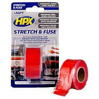 HPX Stretch&Fuse - 25мм х 3м, красная силиконовая вулканизирующая лента для ремонта труб и электроизоляции, фото 1