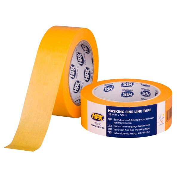 """HPX 4400 - """"Золотая"""" - маскирующая малярная лента (скотч) для наружного применения и четких контуров - 38мм x 50м"""
