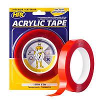 Двухсторонняя акриловая лента (силиконовый скотч) ACRYLIC TAPE, прозрачная - 19мм x 5м