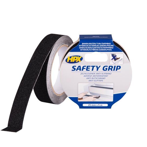 HPX SAFETY GRIP - самоклеющаяся лента против скольжения, черная - 25мм х 5м