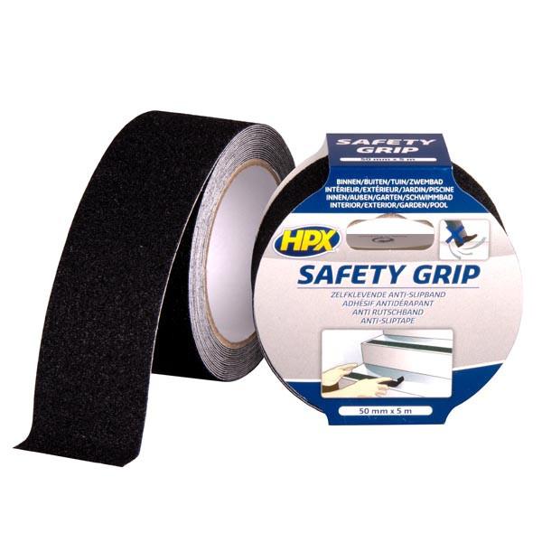 HPX SAFETY GRIP - самоклеющаяся лента против скольжения, черная - 50мм x 5м